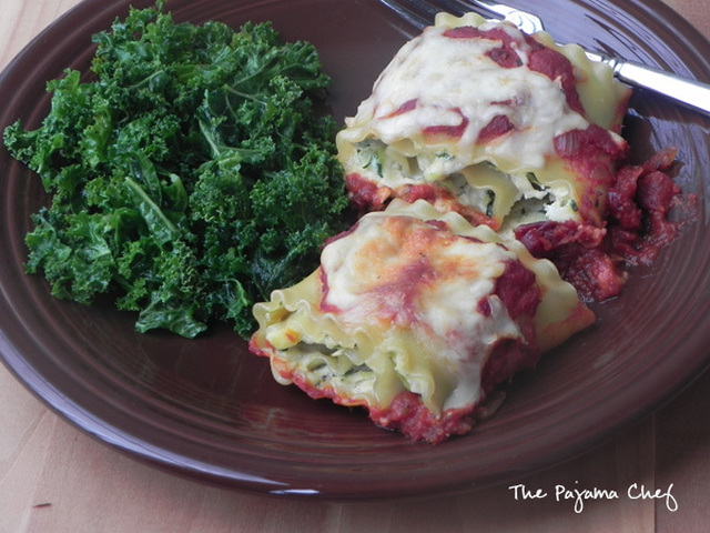 Zucchini and Yellow Squash Lasagna Rollups