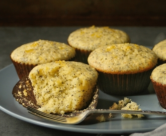 Sticky Lemon and Poppy Seed Muffins