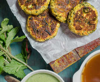Zucchini, Paneer & Sweet Potato Cutlet with Dates Tamarind Chutney