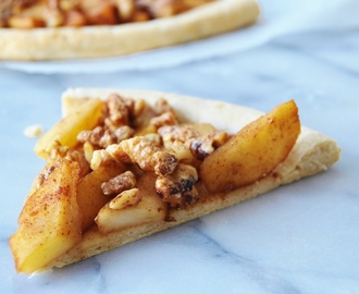 Apple Pie with Candied Walnuts Pizza