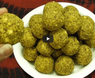 Flax Seeds Laddoo Recipe Video