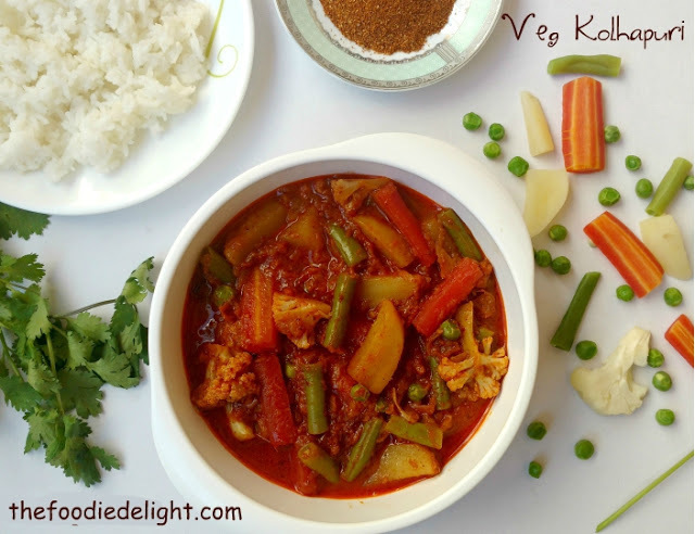 Veg Kolhapuri Recipe | How to Make Kolhapuri Style Mix Veg Sabzi