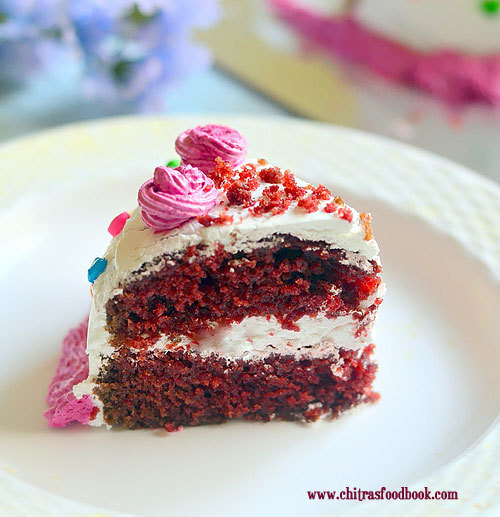 How To Make Eggless Red Velvet Cake Recipe Without Condensed Milk