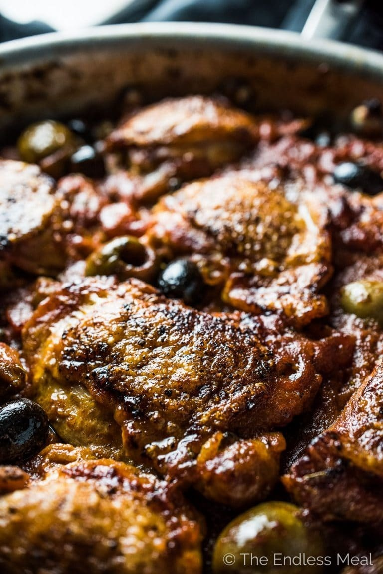 Italian Braised Chicken with Tomatoes and Olives