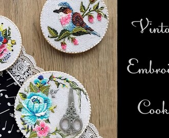 How to decorate Vintage Embroidery Cookies