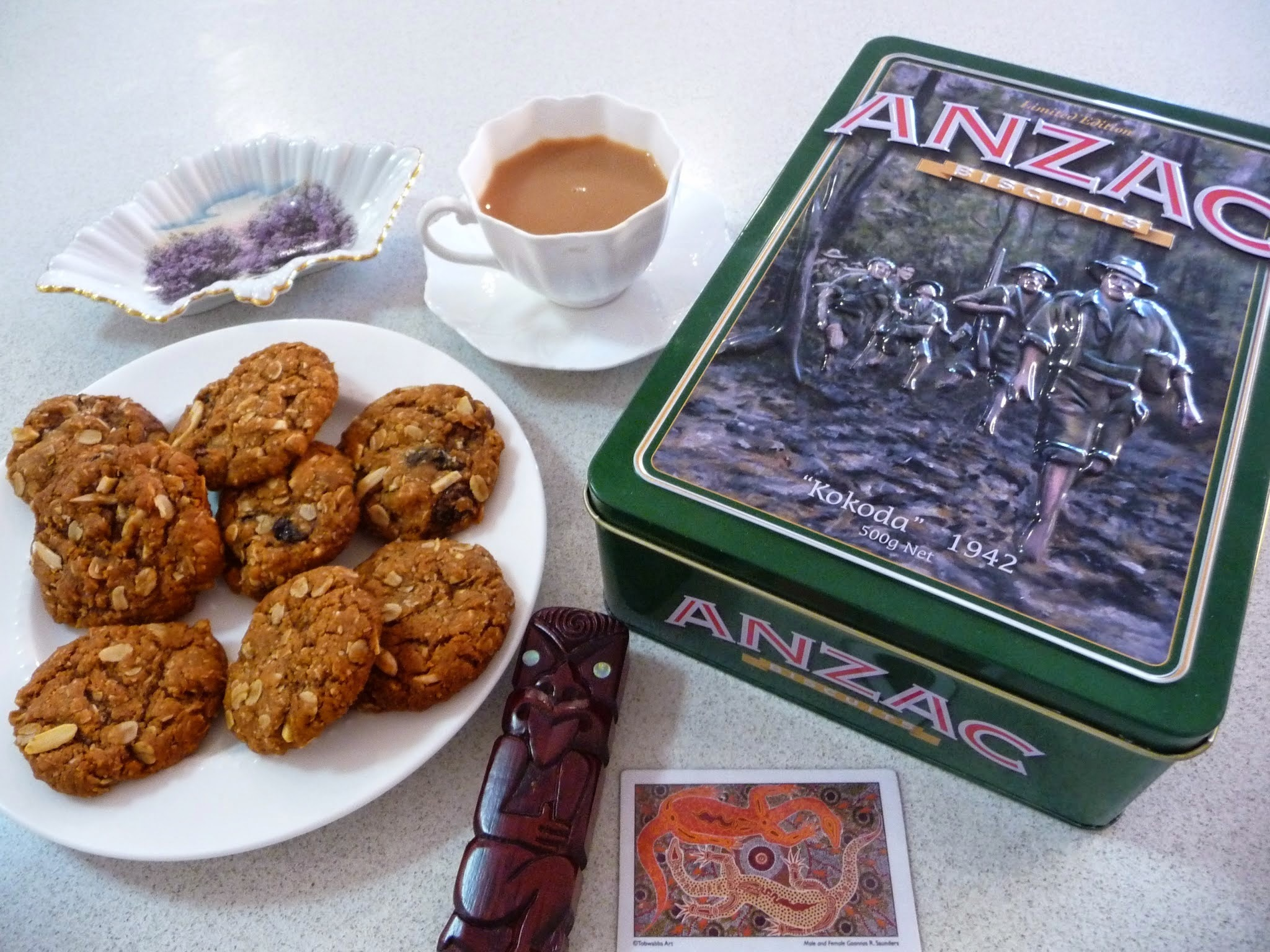 Anzac Biscuits - for a time to remember and reflect.