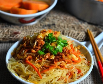 台式金瓜炒米粉 Taiwanese Fried Vermicelli with Pumpkin