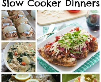 45 Chicken Slow Cooker Dinners
