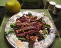 Grilled Flank Steak Salad with Zesty Lemon Honey Vinaigrette