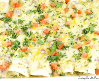 Easy Salsa Verde Chicken Enchiladas