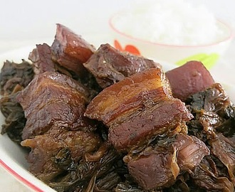 Mui Choy with Pork Belly 梅菜扣肉