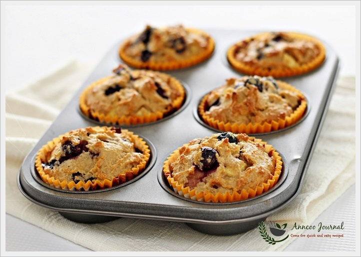 Flourless Blueberry Apple Muffins 无麸蓝莓苹果满分