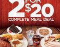 2 for $20 Meal Deal