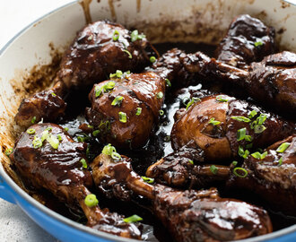 5 Ingredient Sticky Stove Top Balsamic Drumsticks