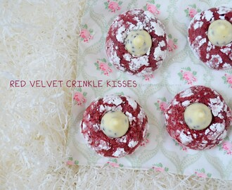 Red Velvet Crinkles Kisses