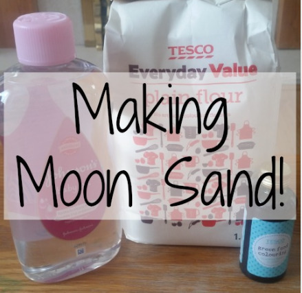 Making Moon Sand....