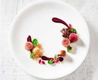 Quail Roulade with Beets and Smoked Apple for S Pellegrino Young Chef 2015
