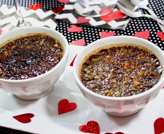 Chocolate Espresso Creme Brulée for #SundaySupper Valentine's Day Wine Pairing #GalloFamily