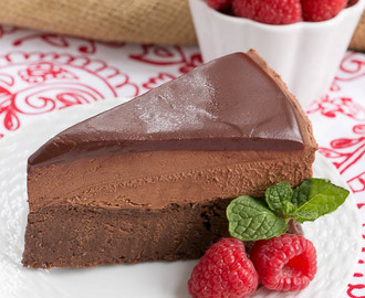 Frozen Chocolate Mousse Cake #TwoSweetiePies