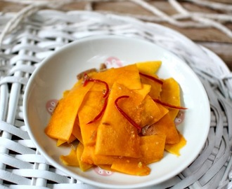 Pickled Pumpkin with Preserved Mandarin Peels