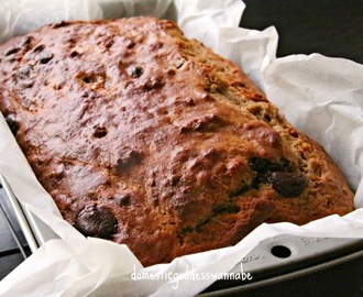 roasted banana bread with chocolate chips
