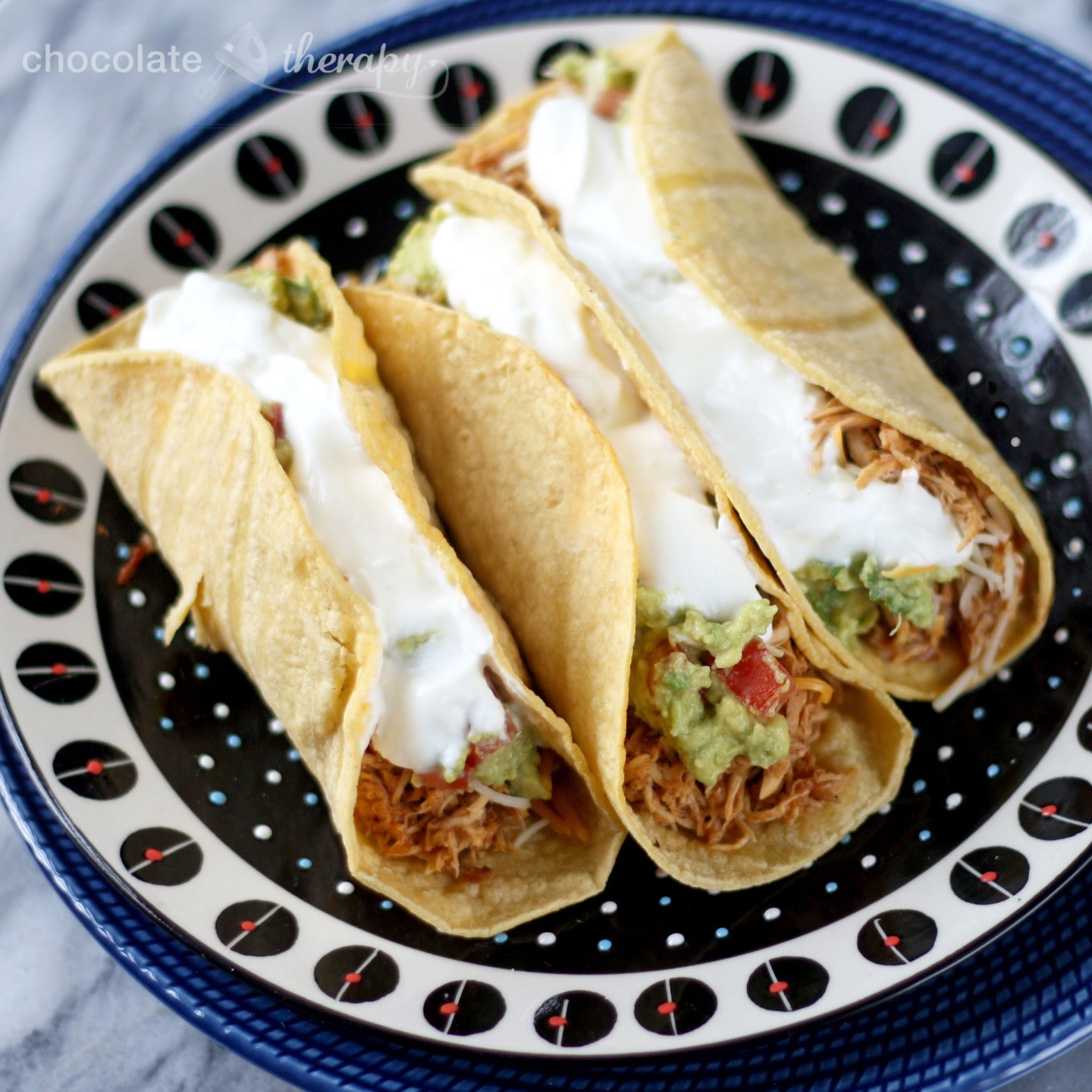 Crockpot Chicken Tacos with Homemade Salsa and Seasoning