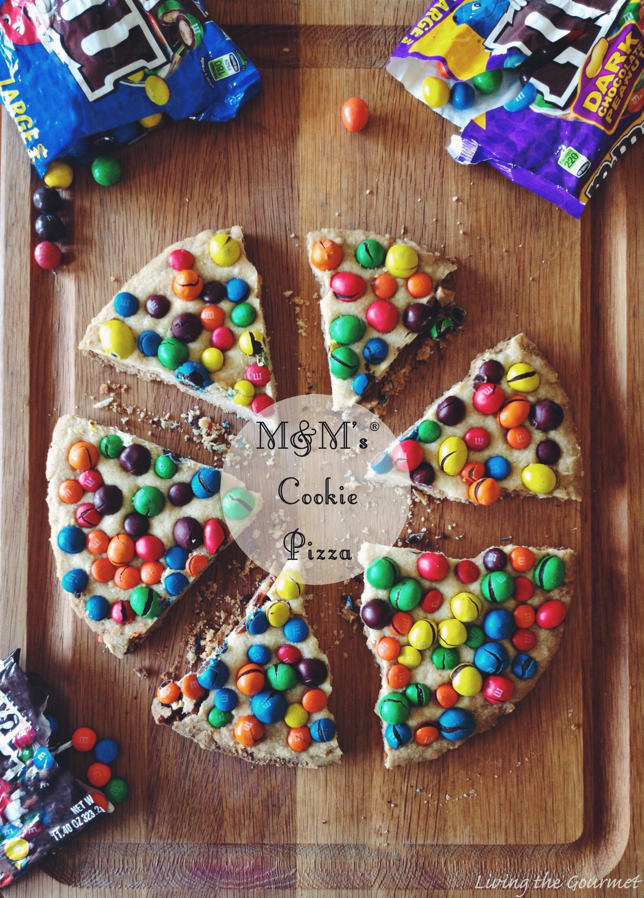 M&M's Cookie Pizza