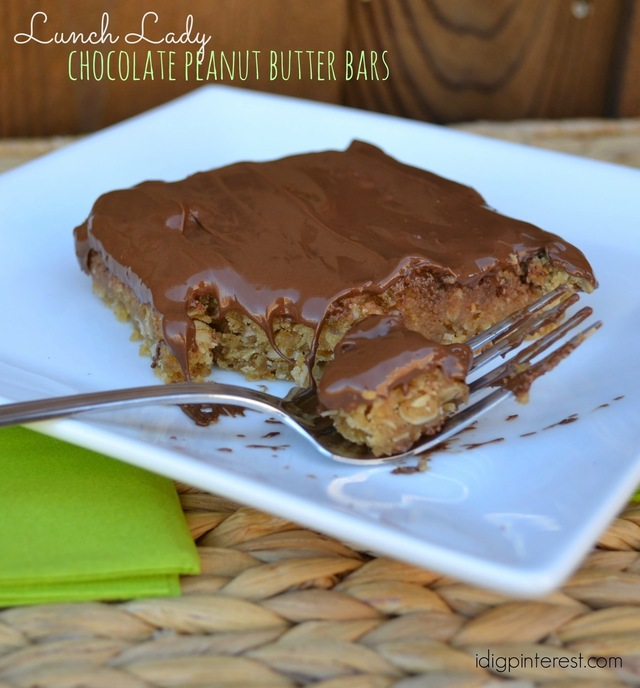 Lunch Lady Chocolate Peanut Butter Bars