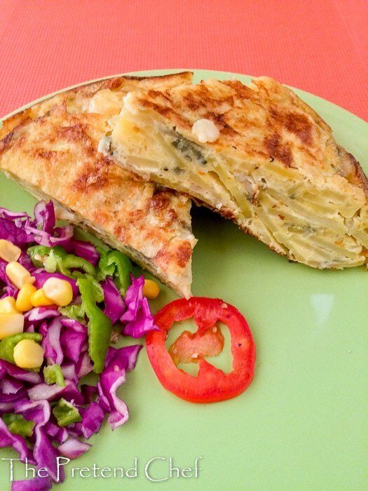 Thick, dense, rich and indulgent easy spanish omelette