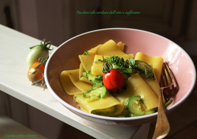 Paccheri Con Verdure Dellorto E Zafferano Ricetta Da Mytaste