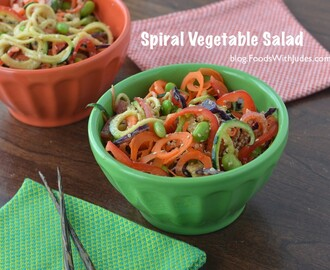 Spiral Vegetable Salad