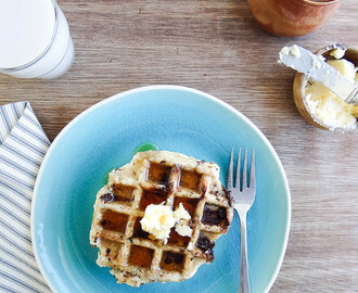 chocolate chip coconut waffles