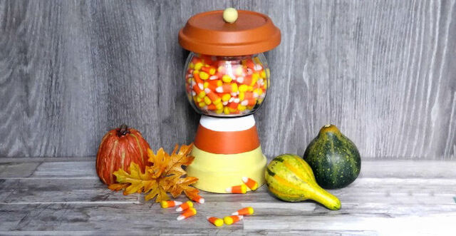 Terracotta Candy Jar – Clay Pot Candy Corn Holder