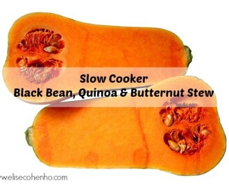 Slow Cooker Black Bean, Quinoa & Butternut Stew