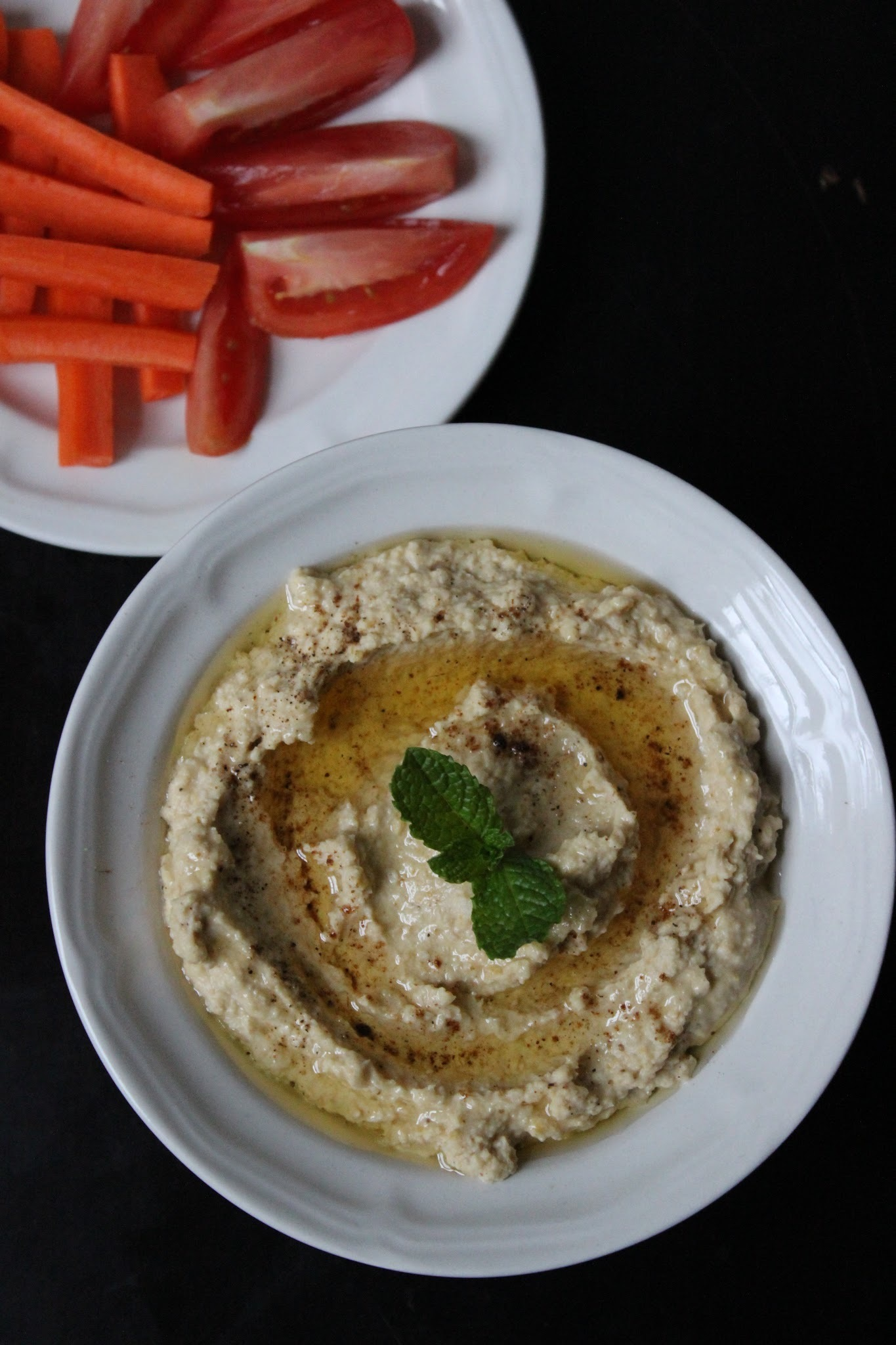 Creamy Hummus with Home Made Tahini Sauce