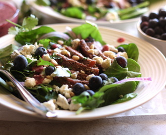 Grilled Steak Salad with Blueberry Balsamic Vinaigrette