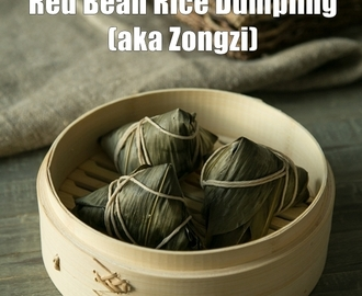 Easy Red Bean Sticky Rice Dumpling | Zongzi 糭子
