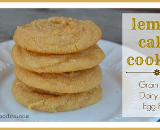 Grain Free Lemon Cake Cookies