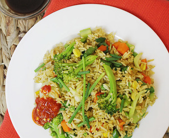 Vegetable Fried Rice | Low-fat + Vegan