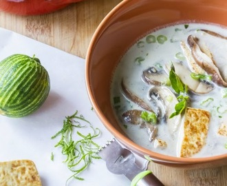 Tofu and Mushroom Soup -  The Thai Style Version