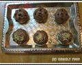 Eggless chocochip  muffins with nutella topping
