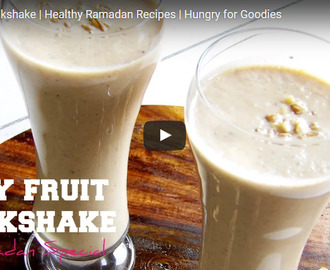 Dry Fruit Milkshake Recipe Video