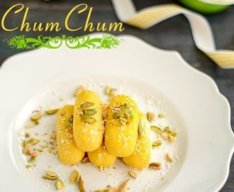 Bengali Chum Chum Recipe | Chom Chom Sweet Recipe | Malai Chum Chum Recipe ~ Spicy Treats' 4th Blog Anniversary!