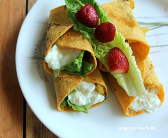 Potato spinach cilantro wrap - Potato spinach cilantro wrap - Lunch box recipe - Breakfast recipe - Kids friendly recipe