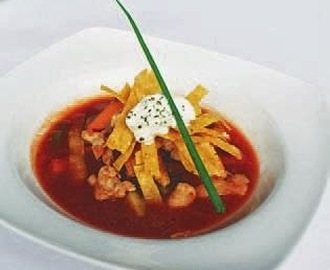 Kalkun, Crispy Tortilla Turkey Soup