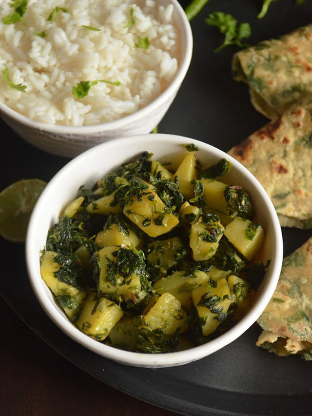 Aloo Methi | Punjabi Aloo Methi Ki Sabji | Potatoes with Fenugreek Leaves