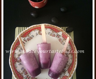 Jamun Yogurt Popsicle Recipe