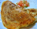 Instant Uttappa (Semolina Crepes topped with veggies)