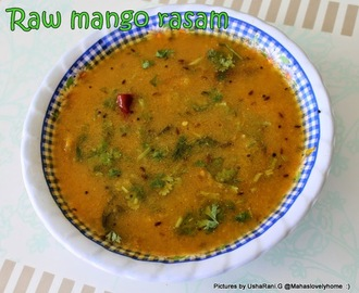 Raw Mango Rasam | Green Mango Rasam | Mamidikaya Rasam | Pachhi Mamidikaya Charu | Quick and easy Veg side dishes for Rice