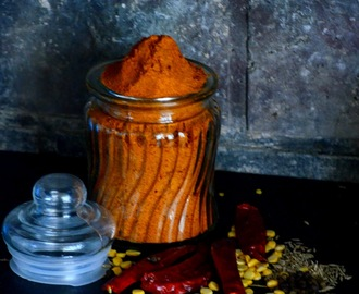 Home made Sambar Powder - How to make sambar powder -  A fool proof recipe